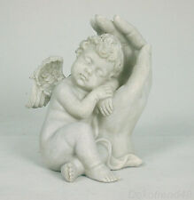 Engelfigur Schutzhand Grab Engel Grabschmuck schützende Hand Deko Figur