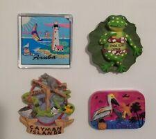 Lot of 4 Souvenir Travel Refrigerator Magnets