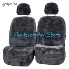 Genuine Sheepskin Car Seat Covers Mazda BT50 11-18 Pair 22MM TC Airbag Safe