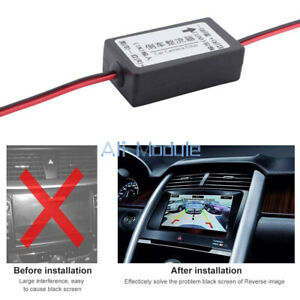 DC 12V Power Relay Capacitor Filter Rectifier for Car Rear View Backup Camera w