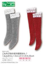 Azone Pureneemo Fluffy Lace Knit Socks B Set Grey & Red Blythe Momoko Doll DAL