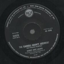 """BOBBY AND LAURIE     Rare 1969 Aust Only 7"""" OOP Single """"Carroll County Accident"""""""