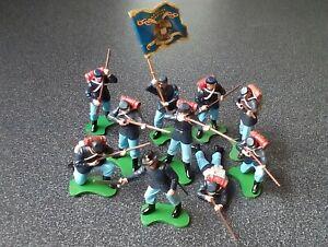 TEN BRITAIN'S SWOPPET U.S. UNION FEDERAL AMERIAN CIVIL WAR PLASTIC SOLDIERS.