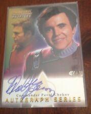 Rare Star Trek TNG Profiles Autograph Card A8 Walter Koenig as Pavel Chekov