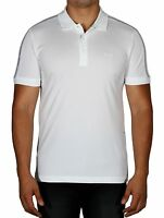 Hugo BOSS Paule White Men's Polo Short Sleeve Shirt Slim 50370131 100 NWT
