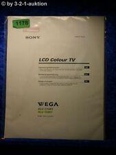 Sony Bedienungsanleitung KLV 17HR1 / 15SR1 Wega LCD Colour TV (#1178)