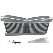 """TWin Turbo 27""""x12.5""""x3.5"""" Intercooler + Brackets For 79-93 Ford Mustang Camaro"""