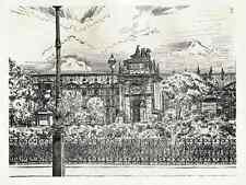 John Jack vrieslander le Louvre Paris-Lithographie de 1910