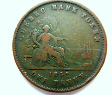 Canada Quebec Bank Token Penny 1852