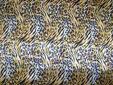 Tiger tiger Animal Satin Shiny Dress Fabric Print 150cm Wide SOLD PER METRE