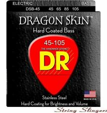 More details for dr dsb-45 dragon skin k3 coated 4-string bass strings 45-105