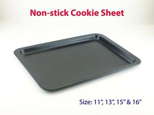 """Non-stick Cookie Sheet Oven Baking Tray Biscuit Swiss Roll Pan 11"""" 13"""" & 15"""""""