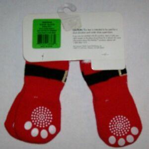 Top Paw Red Santa Dog Socks small or Large