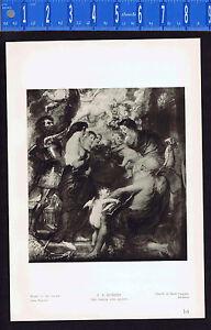 The Virgin and Saints -  Peter Paul Rubens - 1939 Rotogravure