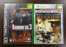 FULL SPECTRUM WARRIOR and Tom Clancy's RAINBOW SIX 3  Bundle Lot Xbox for 2Games
