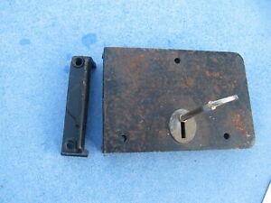 Old/vintage  union rim lock, keep,  & key working order