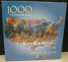 LAND OF THE BRAVE AMERICAN INDIAN KIRK RANDLE 1000 PCE JIGSAW PUZZLE NEW!   A-6