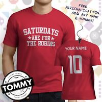 Swindon Town Fan T-Shirt, Saturdays Are For, The Robins Football tshirt,