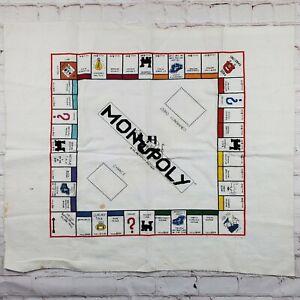 Needlework Needlepoint Cross Stitch Monopoly Game Board Finished Wall Art