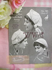 Vintage Knitting Pattern Lady's Hats 3 Styles. Both Stylish & Fun!! JUST £1.99!