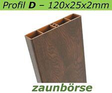 "Musterstück - Kunststoffbretter D (120x25x2mm) ""nussbaum"" Profiware -Zaunlatten"