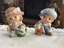 Vintage Homco Figurines #1439 Boy And Girl