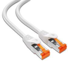 mumbi 25m CAT 6 Netzwerkkabel Patchkabel Ethernet Kabel LAN DSL RJ45 FTP weiss
