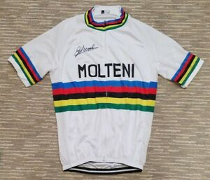 Molteni World Champion Cycling Jersey - Signed by Eddy Merckx