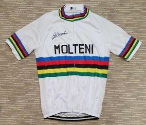 Molteni World Champion Cycling Jersey - Signed by Eddy Merckx