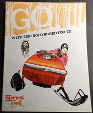 VINTAGE 1972 BOLENS SPRINT SNOWMOBILE SALES BROCHURE 16 PAGES  (844)