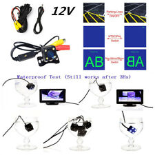 480TV LED Car Backup Camera Button Control Rear/Front NTSC/PAL Guide Line Switch