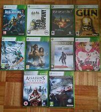 Lote 10 juegos XBOX 360