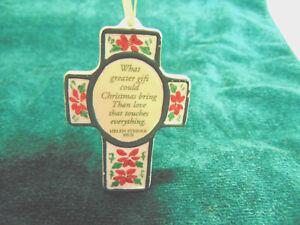 Vintage Christmas CROSS Ornament ~ Helen Steiner Rice #C