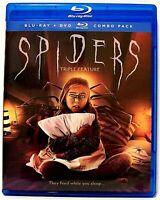 """SPIDERS"" Triple Feature Creature/ Horror/ Sci-Fi  BLU-RAY + DVD Combo (2019)"