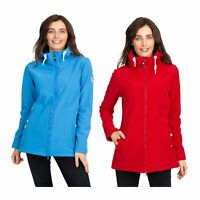 Trespass Kinsley Womens Softshell Jacket Waterproof Coat With Hood Red Blue