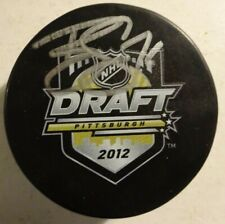 Autographed BRADY SKJEI Signed 2012 NHL Draft Hockey Puck New York Rangers