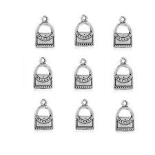 17*10mm Handbags Purse Pendant Charms 10Pcs Tibetan Silver Beads