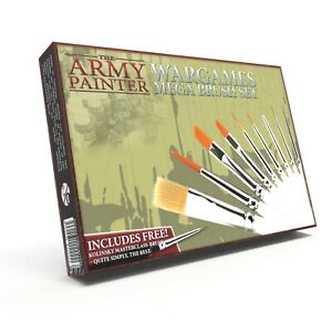 The Army Painter - Mega Brush Set - Contains 10 Brushes ST5113