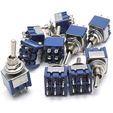 3 Positions Mini Latching Toggle Switch DPDT 6Pin Self Locking AC125V 6A Pack Of