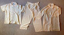 Vintage pajama 3 piece set Mary Jane long sleeve, short sleeve & pants Free Ship
