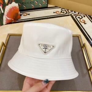 New Prada Bucket Hat Cap White Size M