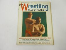 Vintage 1965 Wrestling Illustrated Magazine The Graham Brothers RARE