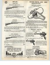 1935 PAPER AD Buck Rogers Rocket Pistol 25th Century Holster Buzz Barton Daisy