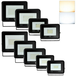 LED Fluter mit Bewegungsmelder Floodlight IP66 Strahler Flutlicht 10W - 100W