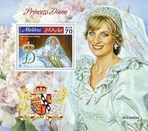 Maldives Royalty Stamps 2019 MNH Princess Diana of Wales 1v S/S