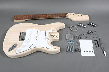 NEW DIY 6 STRING STRAT PROJECT BUILDER KIT ELECTRIC GUITAR EVERYTHING INCLUDED