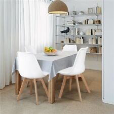 Dining Chairs with Soft Seat and Wood Legs for Kitchen Living Room Lounge, 4pcs