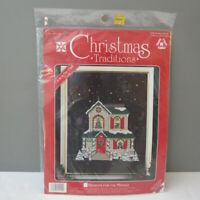 Designs for The Needle Christmas Traditions 1959 Holiday House Cross Stitch