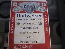 vintage budwweiser beer poster,