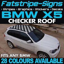 BMW X5 Graphics Checker Techo Coche Vinilo Calcomanías Pegatinas Rayas 4x4 E70 F15 E53